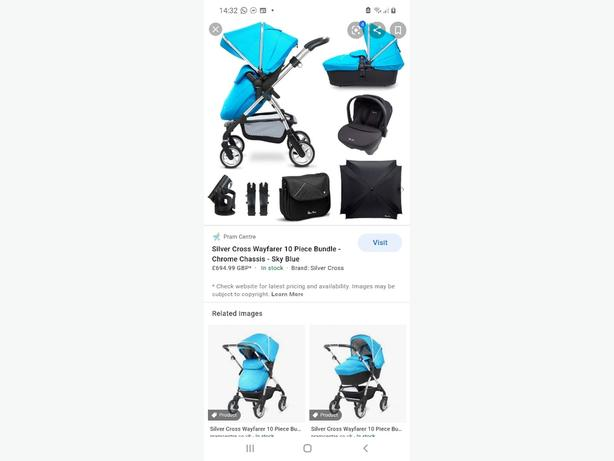 FOR TRADE: silver Cross travel system