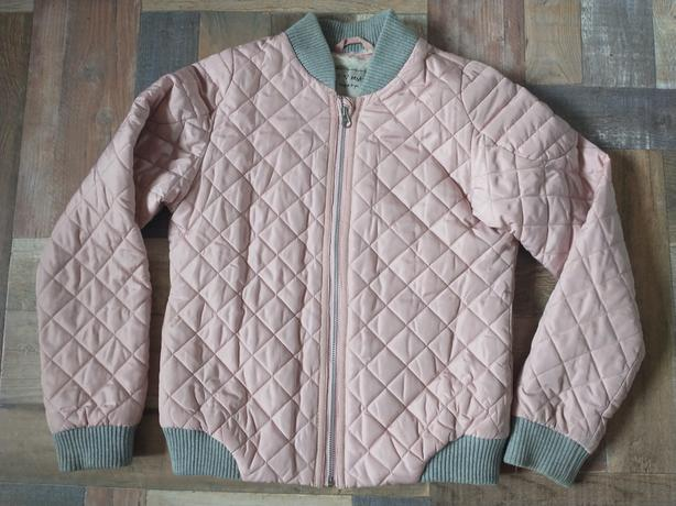 GIRLS PINK FUR LINED QUILTED NEXT JACKET