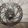 26 inch front wheel with disc.