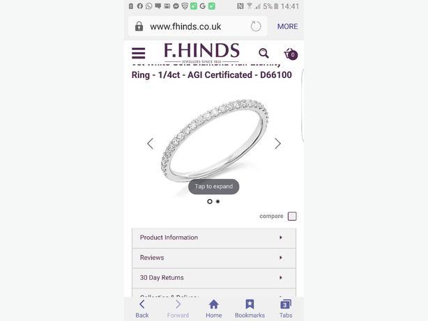 brand new diamond half eternity ring