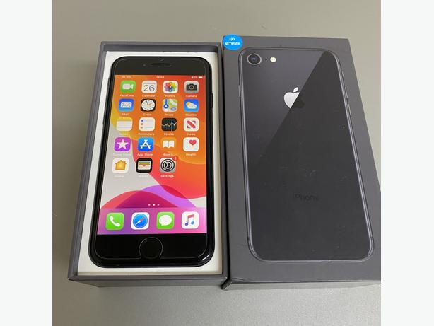 iPhone 8 64Gb unlocked to all networks Black Boxed