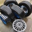 "15"" Alloy wheels and brand new  tyres"