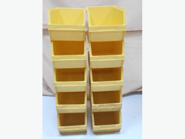 Joblot of 10 Stackable Lyn Bins Yellow