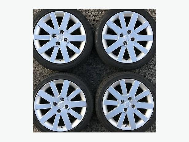 Peugeot gti original alloy wheels like new.  No scratches.  Need tyres