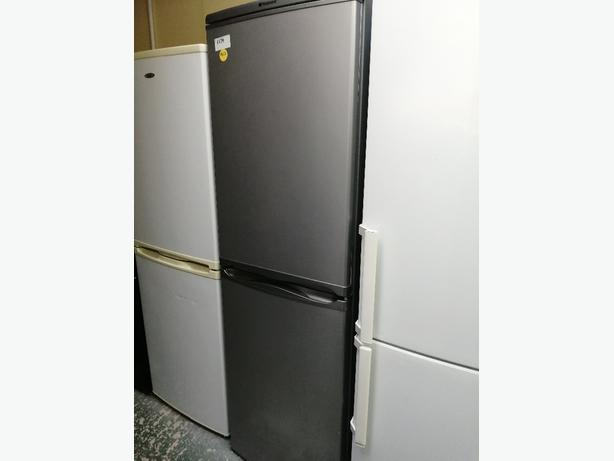 Hotpoint fridge freezer silver with warranty at Recyk Appliances