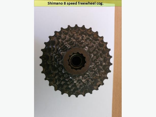 Shimano 8 speed freewheel cog.