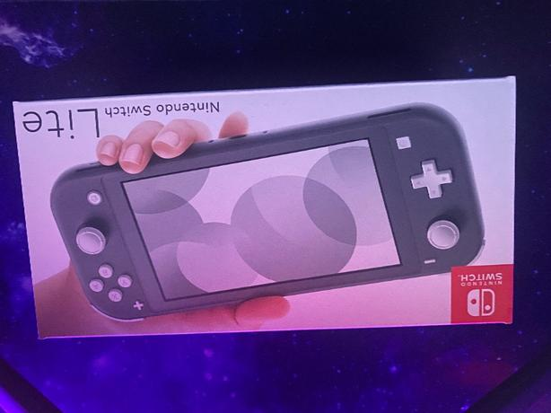 Boxed Grey Nintendo Switch Lite & Pokemon Sword