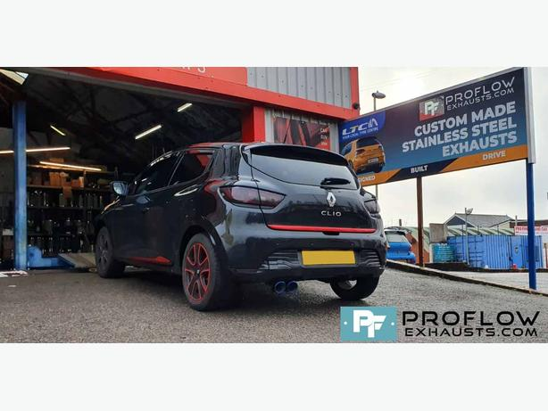 Renault Clio Back Box Delete with Twin Tailpipe proflow exhausts