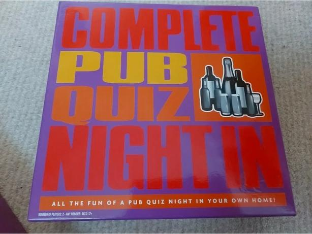 pub quiz board game, new, unused