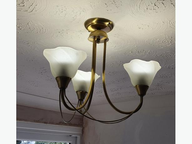 brushed brass ceiling & wall lights