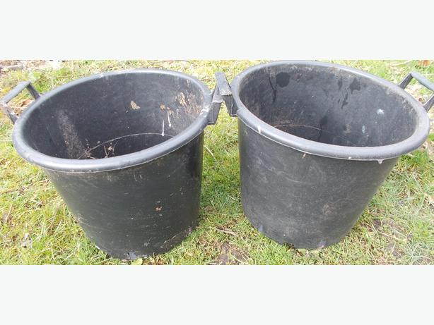 2 Black Heavy Duty Tubs With Handles