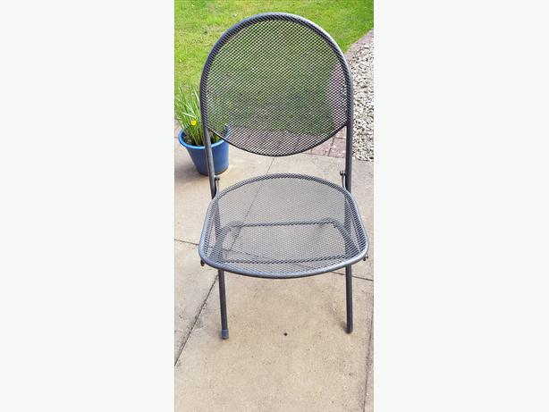 Grey Wire Meshed Foldaway Garden Chairs