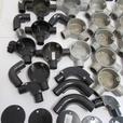 Joblot of Galvanised & Plastic Conduit Fittings