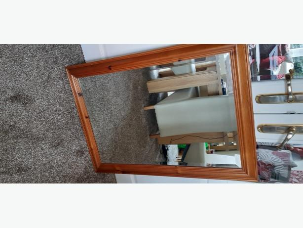 antique pine mirror