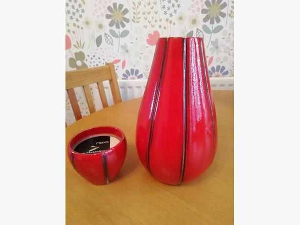 Next ceramic vase and candle pot