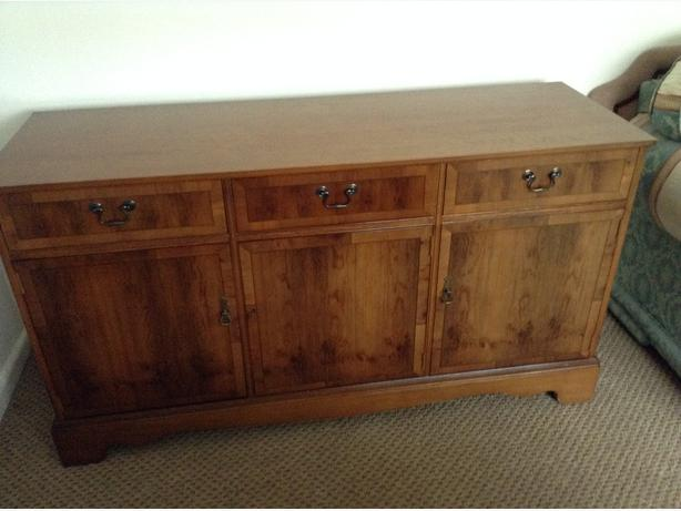 Fabulous Strongbow Burr Yew Wood Cabinet