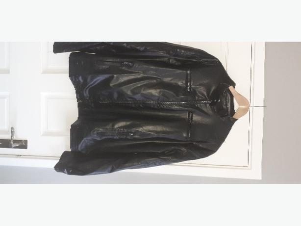 Mens Jacket - Motorcycle Style Leather Look