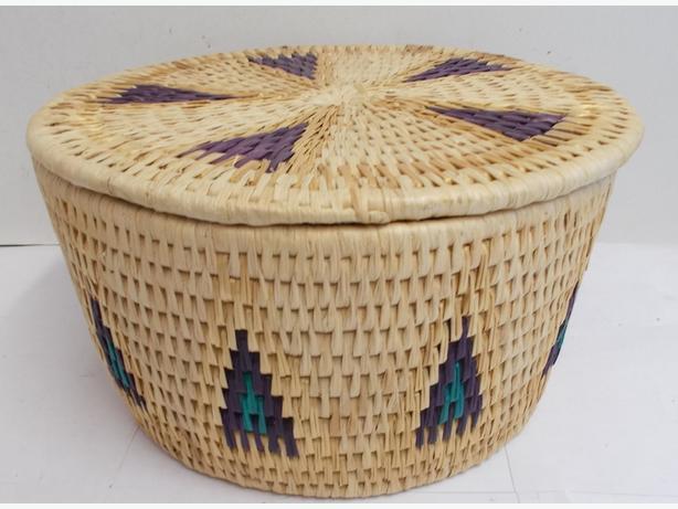 Decorative Wicker Style Storage Basket