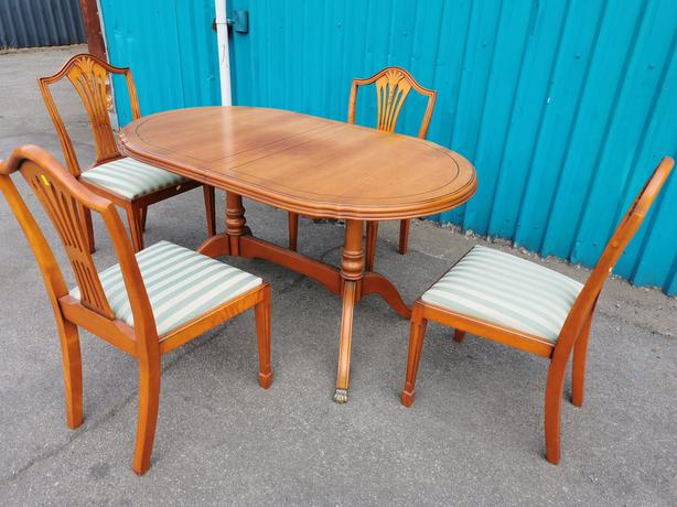 Cherrywood Dining Table and Chairs
