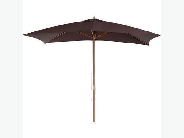2.5m Hardwood Parasol Black