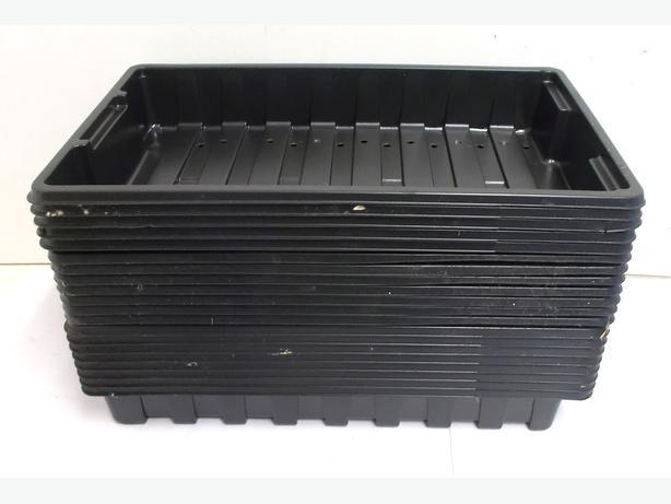 20x Plastic Seed Trays Black
