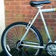 "Raleigh  Max bike,26""wheels,18 speed,front suspension"