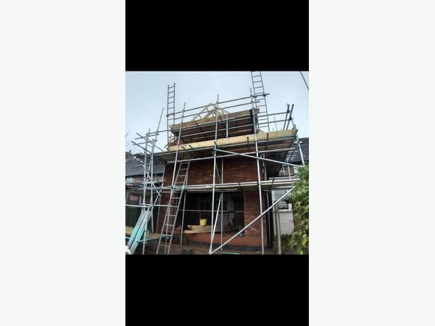 scaffolding roofing construction