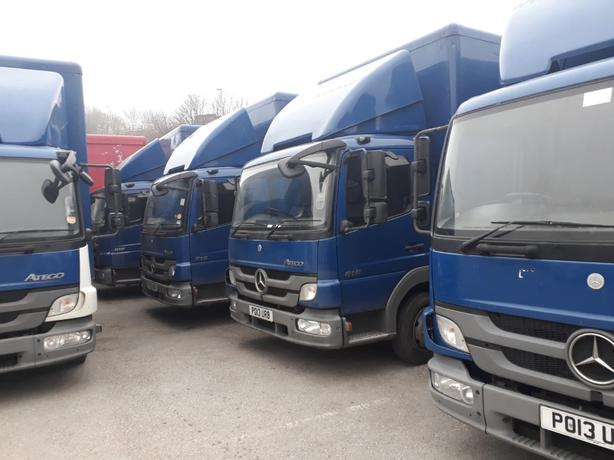 merceds atego 30ft box trucks
