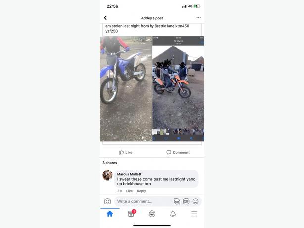 ktm 450 stolen and yzf