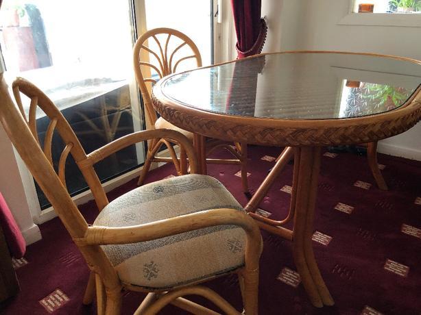 Table, chairs & FREE sofa & coffee table