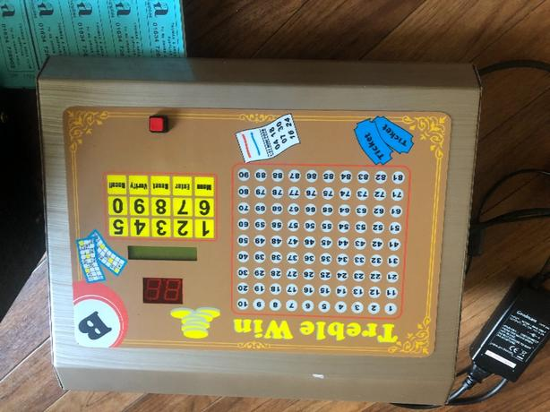 bingo and raffle machine