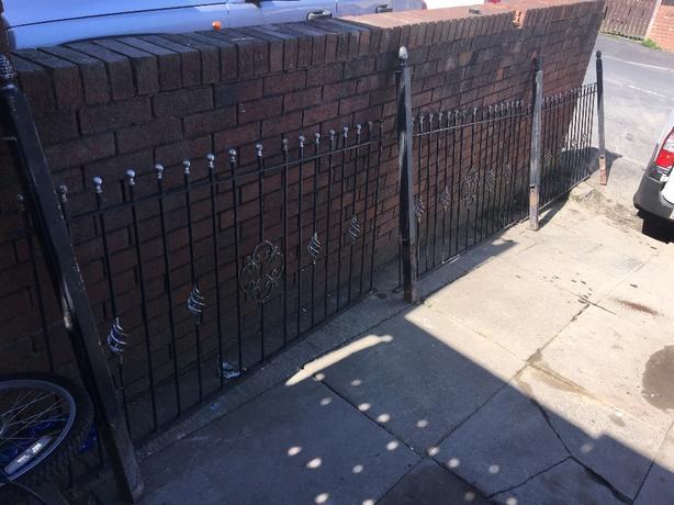 rought iron fence