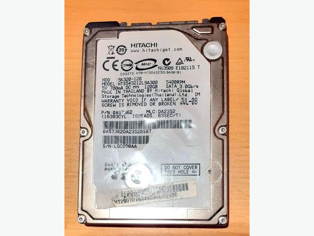120GB Laptop HDD