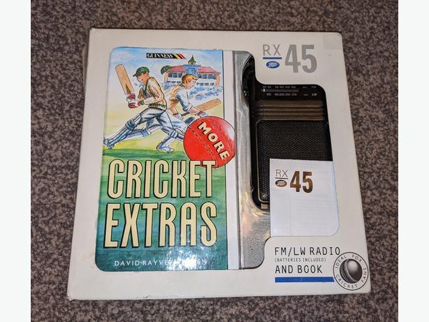 NEW boots rx-45 pocket radio & cricket book set