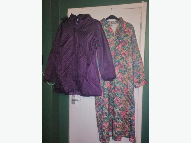brand new coat and matching bag plus house coat - £10 -