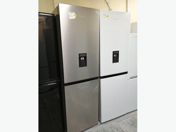 HISENSE FRIDGE FREEZER SILVER GRADED NEW WITH WARRANTY AT RECYK APPLIANCES