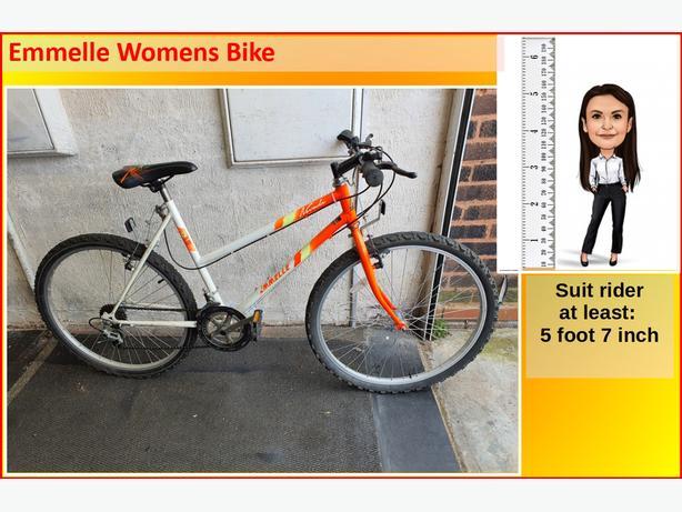 Emmelle Womens Bike. 12 speed. 26 inch wheels.