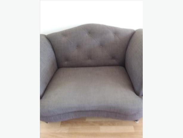DFS Moray 3 seater sofa cuddle chair and pouffe