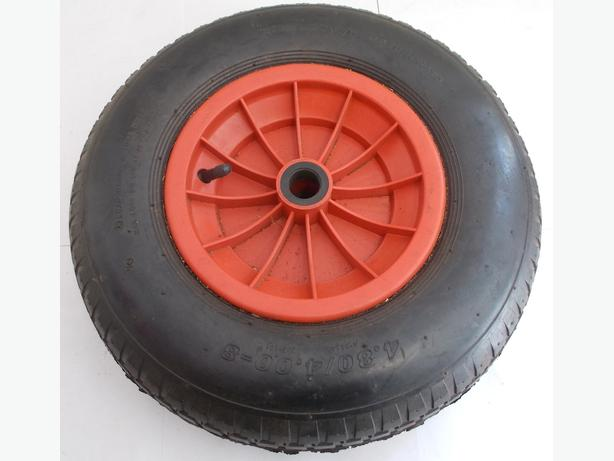 """16"""" Pneumatic Wheelbarrow Wheel/Trolley Tyre 4.80/4.00-8 - 1"""" Bore"""