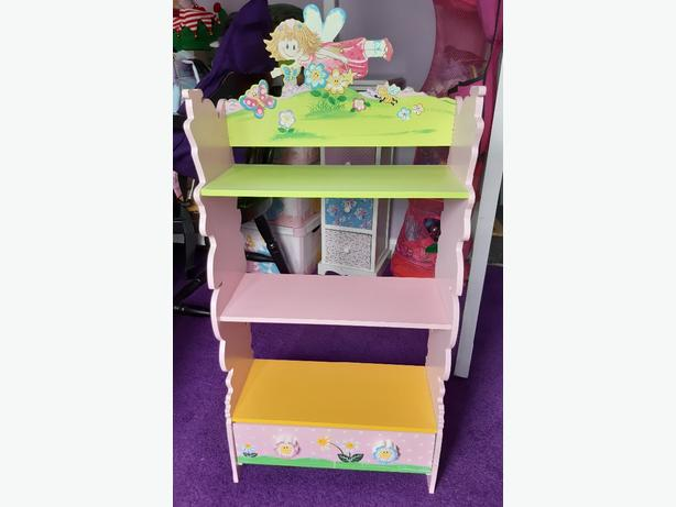 Girls Fairy Bookcase/Dvd stand