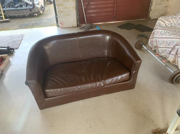 kid leather sofa