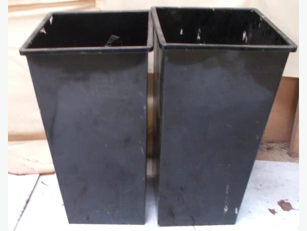 2 Large Metal Planters