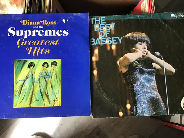Diana Ross and Shirley Bassey vinyls