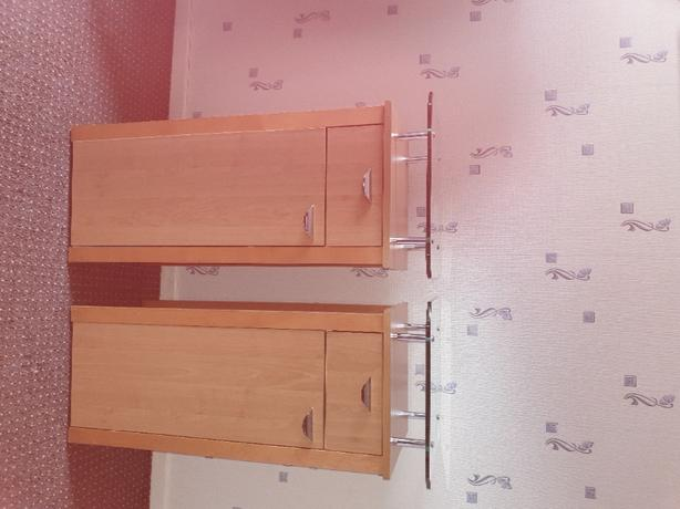 Two side cabinets