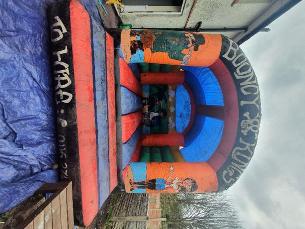 approx 13ft by 13ft bouncy castle