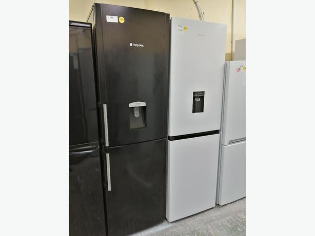 Hotpoint fridge freezer with water dispenser at Recyk Appliances