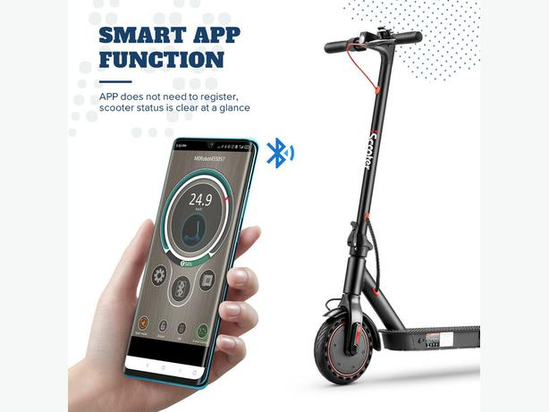 🇬🇧2021 350w AOVO Pro elec e scooter 35km10.5AHbattery inc App