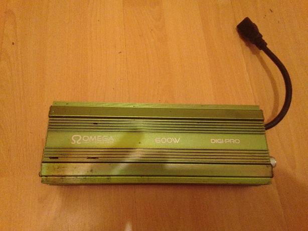 omega light up and grow 600w ballasts x2