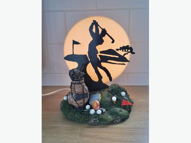 Golfers Silhouette Table Lamp