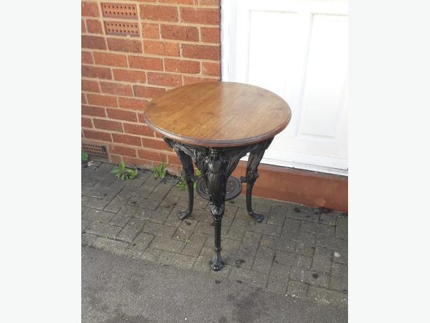 Cast  irion garden  table